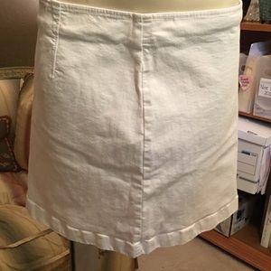 Ann Taylor White Denim Skirt 4